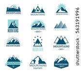 mountain symbol vector set   Shutterstock .eps vector #563191996