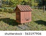 old wooden beehive | Shutterstock . vector #563197906