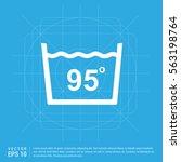 laundry symbols icon   Shutterstock .eps vector #563198764