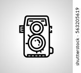photo camera icon. isolated...