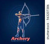 archery. sport emblem on the...   Shutterstock .eps vector #563207386
