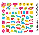 web stickers  banners and... | Shutterstock . vector #563208430