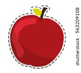 apple fruit icon image vector... | Shutterstock .eps vector #563209108