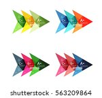 colorful arrow option... | Shutterstock .eps vector #563209864
