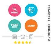 demo with cursor icon.... | Shutterstock . vector #563209888