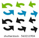 pair of arrows in circle.... | Shutterstock . vector #563211904