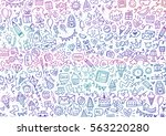 happy doodle elements  | Shutterstock . vector #563220280