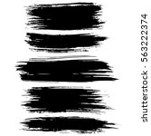 black ink vector brush strokes... | Shutterstock .eps vector #563222374