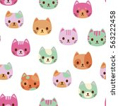 vector seamless pattern with... | Shutterstock .eps vector #563222458