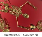 3d render illustration   golden ... | Shutterstock . vector #563222470