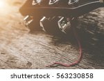 close up guitar and strings... | Shutterstock . vector #563230858