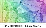 silhouette leaves pattern... | Shutterstock . vector #563236240