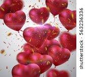 balloon hearts. vector holiday... | Shutterstock .eps vector #563236336