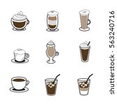 coffee icon | Shutterstock .eps vector #563240716