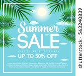 summer sale background with... | Shutterstock .eps vector #563240839