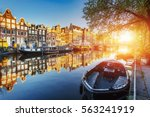 Amsterdam Canal At Sunset....