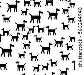 seamless pattern in modern... | Shutterstock .eps vector #563244940