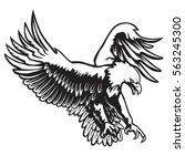 eagle emblem isolated on white... | Shutterstock .eps vector #563245300