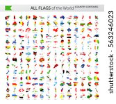 all world vector contour... | Shutterstock .eps vector #563246023