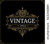 vintage logo template. vector... | Shutterstock .eps vector #563246884