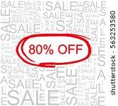 80  off sale word cloud ... | Shutterstock . vector #563253580