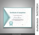 certificate of completion.... | Shutterstock .eps vector #563253814