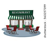 restaurant cafe. | Shutterstock .eps vector #563257399