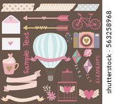 set of design vintage elements  | Shutterstock .eps vector #563258968
