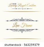 calligraphic luxury line logo.... | Shutterstock .eps vector #563259379