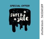 grunge color design big sale... | Shutterstock .eps vector #563260189
