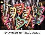 german gingerbread on a... | Shutterstock . vector #563260333