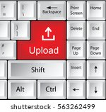 computer keyboard with upload | Shutterstock . vector #563262499