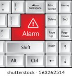 computer keyboard with alarm | Shutterstock . vector #563262514
