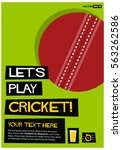 let's play cricket  flat style... | Shutterstock .eps vector #563262586