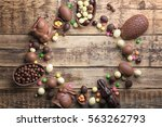Frame Of Chocolate Easter Eggs...