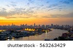 sunrise with grand palace of... | Shutterstock . vector #563263429