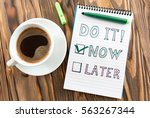 time management concept with... | Shutterstock . vector #563267344