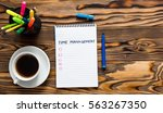 time management concept with... | Shutterstock . vector #563267350
