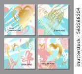 valentine s day creative... | Shutterstock .eps vector #563268304