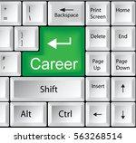 computer keyboard with career | Shutterstock . vector #563268514