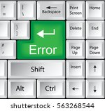 computer keyboard with error | Shutterstock . vector #563268544