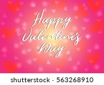 happy valentine's day... | Shutterstock .eps vector #563268910