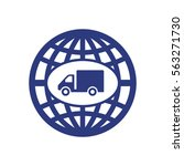 truck   icon  isolated. flat ...   Shutterstock .eps vector #563271730