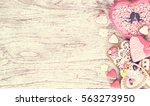 cookies heart  valentine  gift... | Shutterstock . vector #563273950