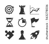 strategy and competition icons... | Shutterstock .eps vector #563278036