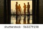 team of business consultants... | Shutterstock . vector #563279158