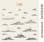 set of clouds  vector... | Shutterstock .eps vector #563282638