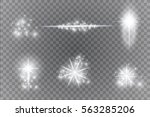 glow light effect. star burst... | Shutterstock .eps vector #563285206