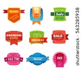 discount sale sticker set... | Shutterstock .eps vector #563285938