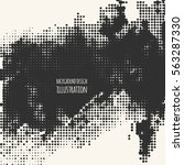black and white grunge effect.... | Shutterstock .eps vector #563287330